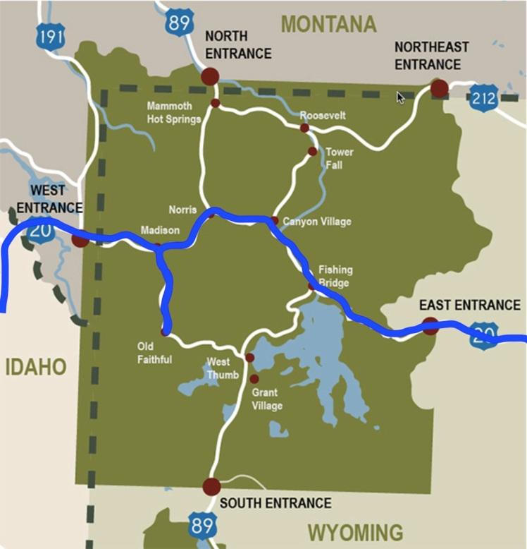 Yellowstone Map Day 2